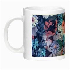 Spring Flowers Blue Glow in the Dark Mug