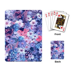 Spring Flowers Blue Playing Cards Single Design