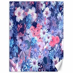 Spring Flowers Blue Canvas 18  x 24  (Unframed)