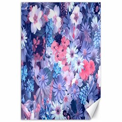 Spring Flowers Blue Canvas 20  x 30  (Unframed)