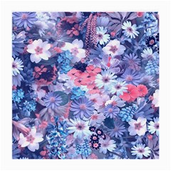 Spring Flowers Blue Glasses Cloth (medium)