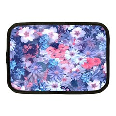 Spring Flowers Blue Netbook Sleeve (medium)