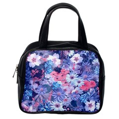 Spring Flowers Blue Classic Handbag (One Side)