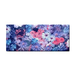 Spring Flowers Blue Hand Towel