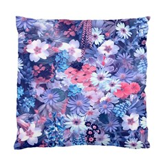 Spring Flowers Blue Cushion Case (Single Sided)