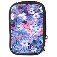 Spring Flowers Blue Compact Camera Leather Case