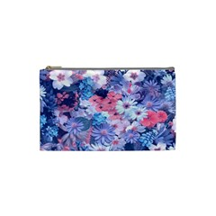 Spring Flowers Blue Cosmetic Bag (small)