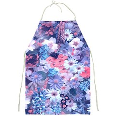 Spring Flowers Blue Apron