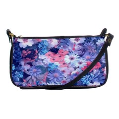 Spring Flowers Blue Evening Bag