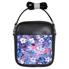 Spring Flowers Blue Girl s Sling Bag
