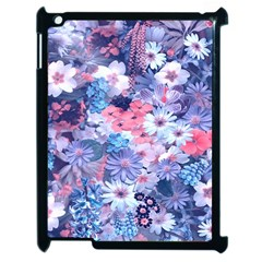Spring Flowers Blue Apple iPad 2 Case (Black)