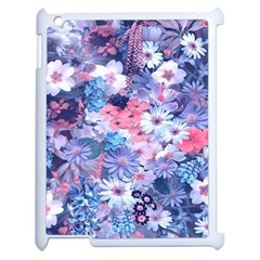 Spring Flowers Blue Apple Ipad 2 Case (white)