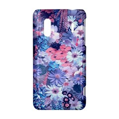 Spring Flowers Blue HTC Evo Design 4G/ Hero S Hardshell Case