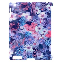 Spring Flowers Blue Apple iPad 2 Hardshell Case (Compatible with Smart Cover)