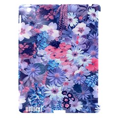 Spring Flowers Blue Apple iPad 3/4 Hardshell Case (Compatible with Smart Cover)