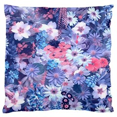 Spring Flowers Blue Large Cushion Case (two Sided)