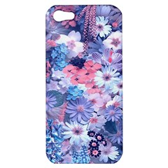 Spring Flowers Blue Apple Iphone 5 Hardshell Case
