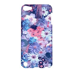Spring Flowers Blue Apple iPod Touch 5 Hardshell Case