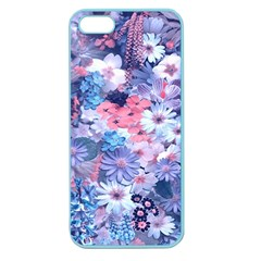 Spring Flowers Blue Apple Seamless iPhone 5 Case (Color)
