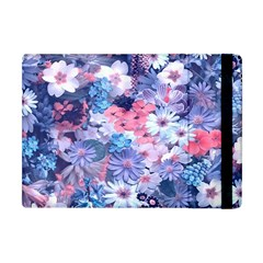 Spring Flowers Blue Apple iPad Mini Flip Case