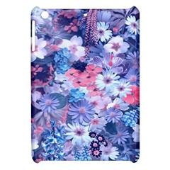 Spring Flowers Blue Apple iPad Mini Hardshell Case