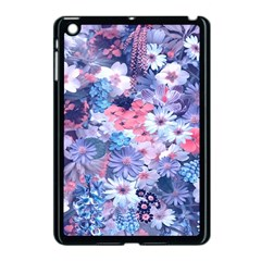 Spring Flowers Blue Apple Ipad Mini Case (black)