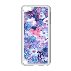 Spring Flowers Blue Apple iPod Touch 5 Case (White)