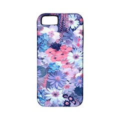 Spring Flowers Blue Apple iPhone 5 Classic Hardshell Case (PC+Silicone)