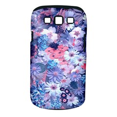 Spring Flowers Blue Samsung Galaxy S III Classic Hardshell Case (PC+Silicone)
