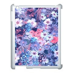 Spring Flowers Blue Apple Ipad 3/4 Case (white)