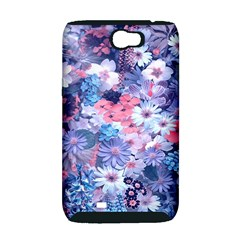 Spring Flowers Blue Samsung Galaxy Note 2 Hardshell Case (PC+Silicone)