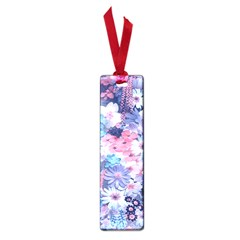 Spring Flowers Blue Small Bookmark
