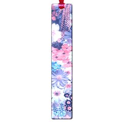 Spring Flowers Blue Large Bookmark
