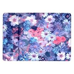 Spring Flowers Blue Samsung Galaxy Tab 10.1  P7500 Flip Case