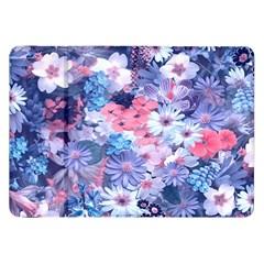 Spring Flowers Blue Samsung Galaxy Tab 8 9  P7300 Flip Case