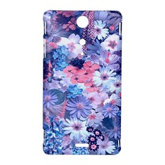 Spring Flowers Blue Sony Xperia TX Hardshell Case