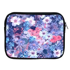 Spring Flowers Blue Apple Ipad Zippered Sleeve