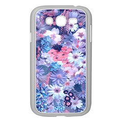 Spring Flowers Blue Samsung Galaxy Grand Duos I9082 Case (white)