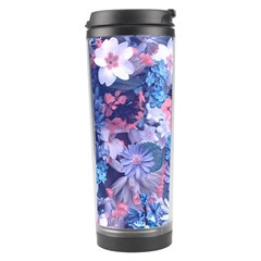 Spring Flowers Blue Travel Tumbler