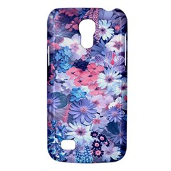 Spring Flowers Blue Samsung Galaxy S4 Mini (gt I9190) Hardshell Case