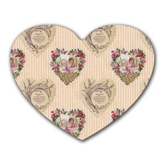 Vintage Valentine Mouse Pad (Heart)