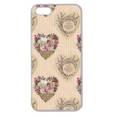 Vintage Valentine Apple Seamless iPhone 5 Case (Clear)