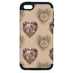 Vintage Valentine Apple iPhone 5 Hardshell Case (PC+Silicone)