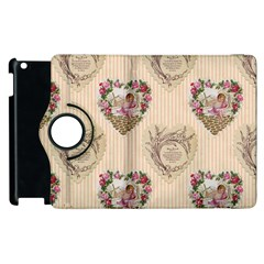 Vintage Valentine Apple iPad 2 Flip 360 Case