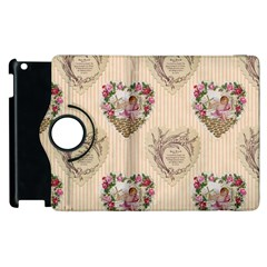 Vintage Valentine Apple iPad 3/4 Flip 360 Case