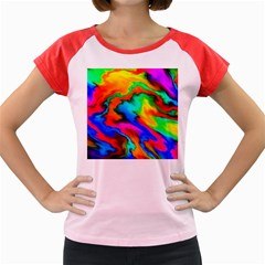 Crazy Effects  Women s Cap Sleeve T-Shirt (Colored)