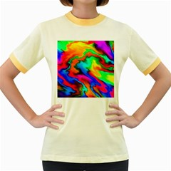 Crazy Effects  Womens  Ringer T-shirt (Colored)