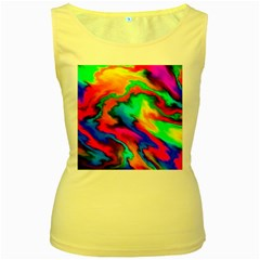 Crazy Effects  Womens  Tank Top (yellow)