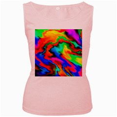 Crazy Effects  Womens  Tank Top (Pink)