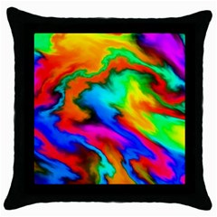 Crazy Effects  Black Throw Pillow Case